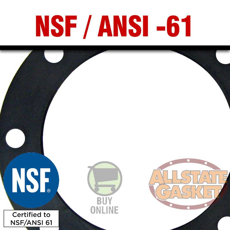 NSF-61 ANSI EPDM Rubber Material and Gaskets