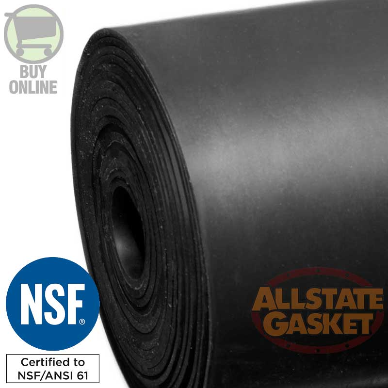 EPDM Rubber  NSF-61 ANSI Material and Gaskets